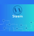 blockchain steem networking concept background vector image