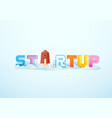 business startup word lettering typography vector image