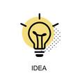 idea lightbulb graphic icon vector image