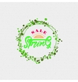 Spring sale lettering calligraphy vector image