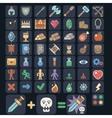 Game icon set game flat icon magic armor vector image