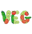 vegetables set vector image