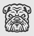Bulldog Head Logo Mascot Emblem vector image