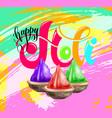 happy holi celebration design to indian spring vector image