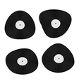 Set music black vinyl Retro plate vector image
