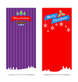 045 Merry Christmas banner background Collection vector image vector image