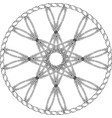 abstract entwined wheel with octagonal star in vector image vector image