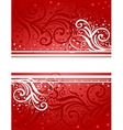 Abstract red-white background vector image