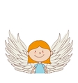 angel girl wing icon graphic vector image vector image