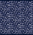 arabesque damask abstract vintage wallpaper vector image