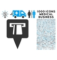 ATM Pointer Icon with 1000 Medical Business vector image vector image
