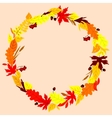 Autumn frame with leaves herbs and acorns vector image vector image
