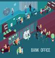 bank office isometric vector image