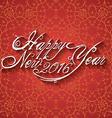 beautiful elegant text design happy new year vector image