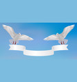 birds in sky with a banner vector image