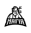 black and white mafia used for logos and other vector image