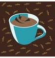 Blue cup of coffee vector image