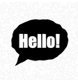 Bubbles Hello Exclamation Words vector image