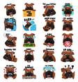 bulldog dog emoji emoticon expression vector image vector image
