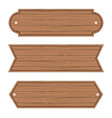 cartoon wood banners wooden planks set vector image vector image