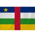 Central African Republic waving flag vector image vector image