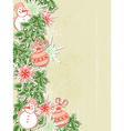 Christmas background with paper decorations vector image vector image
