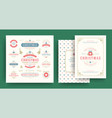 christmas labels and badges design elements vector image vector image
