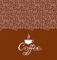 cofee contour vector image vector image