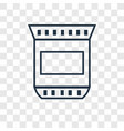 coffee bag concept linear icon isolated on vector image