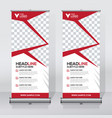 creative roll up banner design template vector image