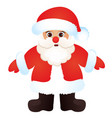 cute santa claus isolated on a white background vector image vector image