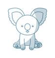 cute shadow koala cartoon vector image vector image