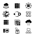 Data storage and cloud services vector image