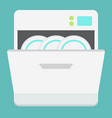 dishwasher flat icon kitchen and appliance vector image