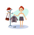 dressing down daily routine activities of women vector image