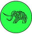 elephant animal isolated art line icon vector image