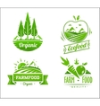 Farm food typography design on white background vector image vector image