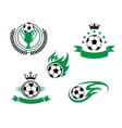 Football and soccer design elements vector image vector image