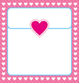 Frame shaped from white heart on pink background vector image vector image