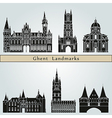 ghent landmarks and monuments vector image vector image
