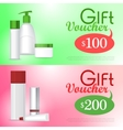 Gift Voucher Cosmetic Template Certificate Coupon vector image