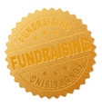 gold fundraising medallion stamp vector image vector image