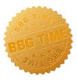 golden bbg time award stamp vector image vector image