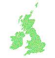 great britain and ireland map mosaic of dots vector image vector image