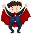 Halloween costume as vampire vector image vector image
