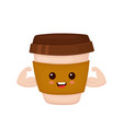 happy cute smiling strong coffee vector image
