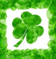 Happy Saint Patricks Day Watercolor Background vector image vector image
