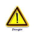 hazard warning attention sign with exclamation vector image vector image