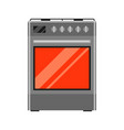 icon gas stove vector image
