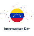 independence day of venezuela patriotic banner vector image
